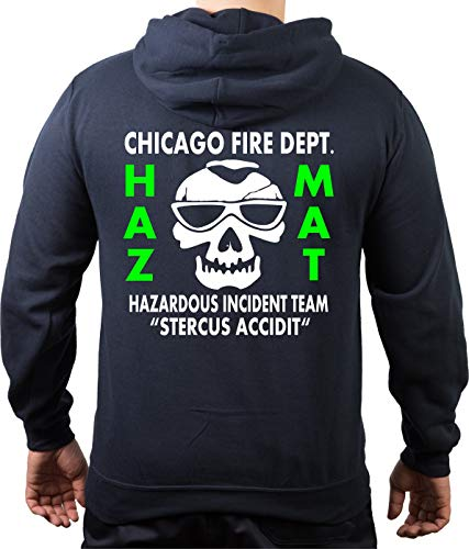 Chicago Fire Dept. HAZ MAT Incident Team Sweat-shirt Bleu marine - Bleu - Medium