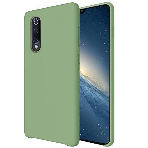 Funda para Xiaomi Mi 9/Mi 9 SE Teléfono Móvil Silicona Liquida Bumper Case y Flexible Scratchproof Ultra Slim Anti-Rasguño Protectora Caso (Mint Green, Xiaomi Mi 9)