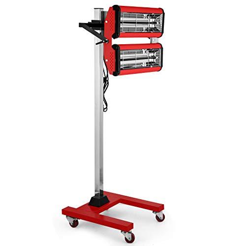 Frantools 1000W Infrarot-Heizung mit beweglichem Standfuß Infrarot-Lacktrockner für Autokarosserien Smart Repair Dry Paint Portable