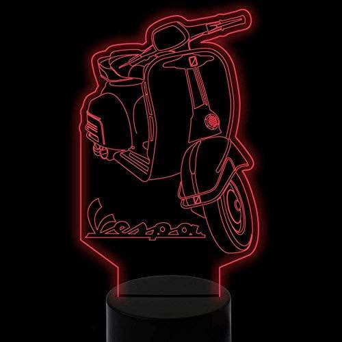 3D Illusion Lampe Täuschungen Schreibtischlampe Roller Motorradschlafzimmer-Büro-Dekor Für Kindergeburtstag Weihnachtsgeschenk-Bluetooth Control