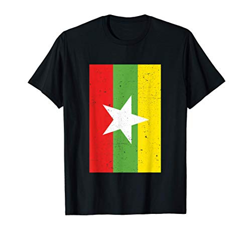 Myanmar Drapeau Birmanie Birmanie Myanmar Cadeau de voyage T-Shirt