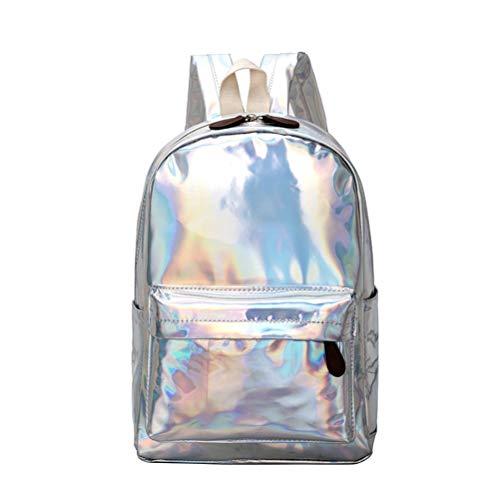 Mochila holográfica de Plata Espejo reflexivo Moda holográfica láser Mochila Escolar para niñas niños Mochila láser dayback