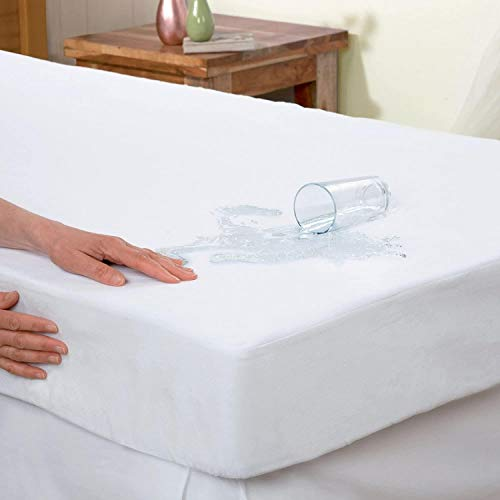 Trading Innovation Premium Mattress Protector | 100% Water Resistant, Non Allergenic & Mildew Proof | Ultra Soft & Smooth Extra Deep Fitted Mattress Cover (Single)