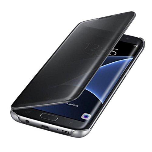 """Samsung Galaxy S6 5.1"""" Custodia Case Cover Eco Pelle NERA FLIP Custodia Magnetico Sottile Pelle Portafoglio Flip per Samsung Galaxy S6 5.1 pollice (nero)"""