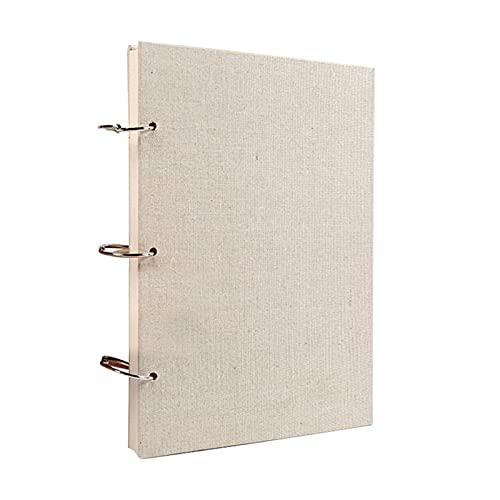 QOTSTEOS Cuaderno A4 A5 con anillas para bocetos, tamaño A5, de fácil rasgadura, de papel de dibujo, cuaderno de bocetos, encuadernado en espiral, con tapa dura, 60 hojas/120 páginas
