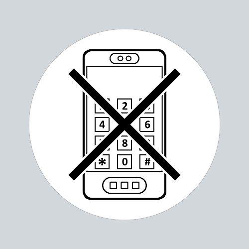 Aufkleber Sticker 10cm Handyverbot Handy Telefon telefonieren verboten Kraftstoff Tank Kanister Tankstelle Zapfsäule Hinweis (1)