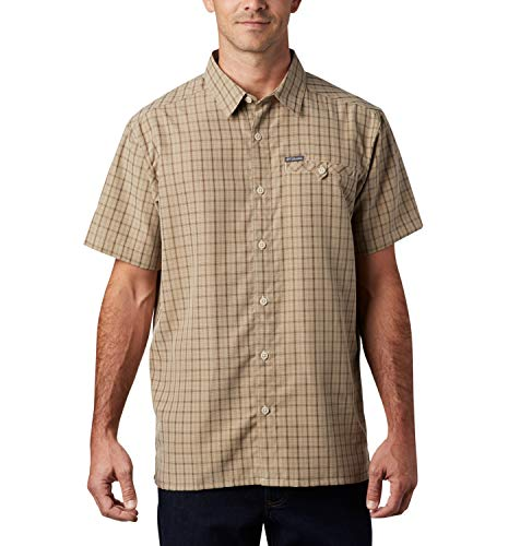 Columbia Declination Trail II Chemise à Manches Courtes Homme Fossil FR: XS (Taille Fabricant: XS)