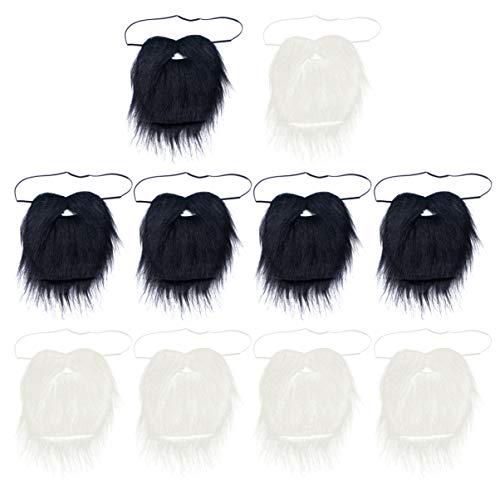 Amosfun 10 bigotes falsos, fiesta de bigote, bigote para fiestas de disfraces y actuaciones, disfraces de Halloween, fiesta de Halloween