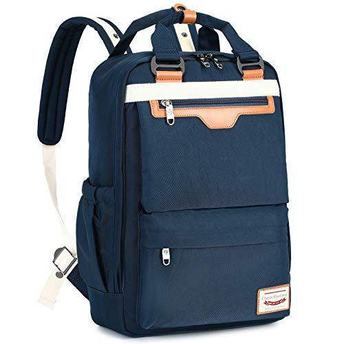 Myhozee Rucksack Damen Rucksäcke Herren Tagesrucksack mit Laptopfach & Anti Diebstahl Tasche Wasserdichter Schulrucksack Laptop Rucksack 15.6 Zoll für Uni Reisen Freizeit Job, Blue