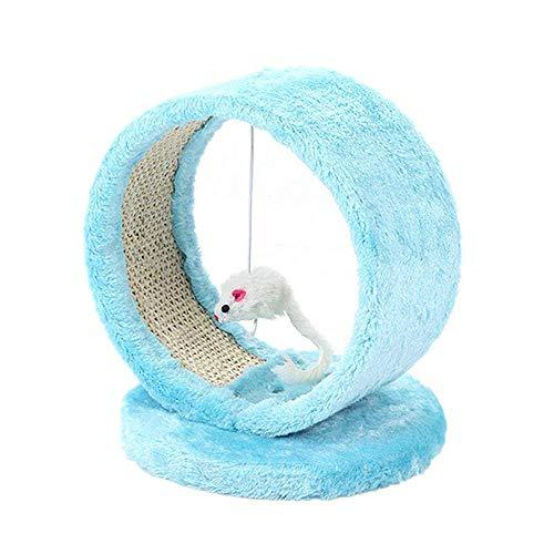 GH-YS Jouer Towers & Arbres pour Chats Chat Scratcher Tree Pet Play Toy Souris Meubles Scratching Post Climbing Frame Cat Furniture Produit pour Animaux de Compagnie Jouet de Saut Rose /