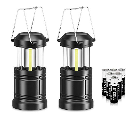 2 Pack Portable LED Collapsible Camping Lantern As Seen On TV Battery Powered Outdoor LED Lantern Camping Lights