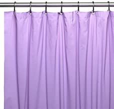 DINY Bath Elements Heavy Duty Magnetized Shower Curtain Liner Mildew Resistant (Lilac)