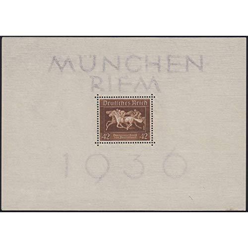 Goldhahn Deutsches Reich postfrisch ** mit Block 4 Briefmarken für Sammler