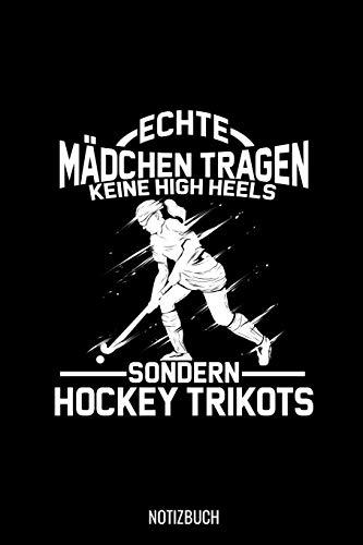 Echte Mädchen Tragen keine High Heels Sondern Hockey Trikots: Punkteraster Notizbuch A5 Dotted - Feldhockey Hockey Hockeyspieler Geschenk I Frauen Mannschaft Team Coach Geschenkidee