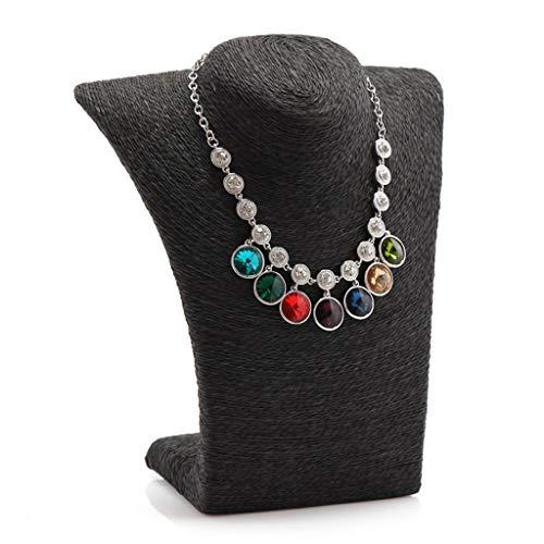 Organizador de Joyas Cordón de soporte de exhibición de la exhibición de la joyería del estante de la joyería ligero y portátil Rack de Almacenamiento ( Color : Black , tamaño : Small (height 22cm) )