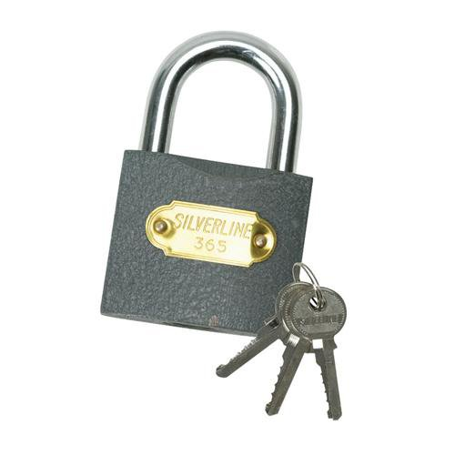 40mm Heavy Duty Steel Brass Padlock Outdoor Safety Security Shackle With 3 Keys