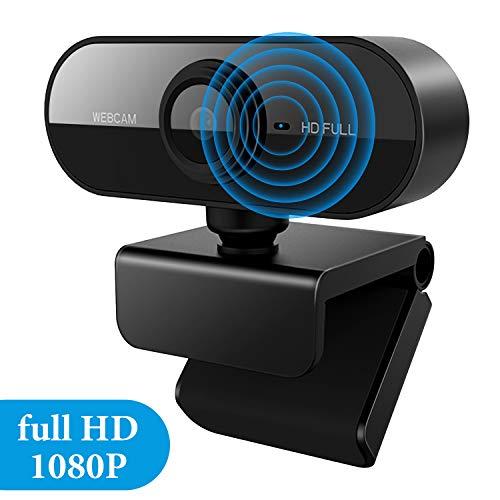 Homealexa HD Webcam 1080P USB Webkamera Eingebautes Mikrofon, PC Laptop Kamera mit drehbarem Clip für Videoanrufe Konferenzen, Remote-Video, Spiele, Live-Streaming