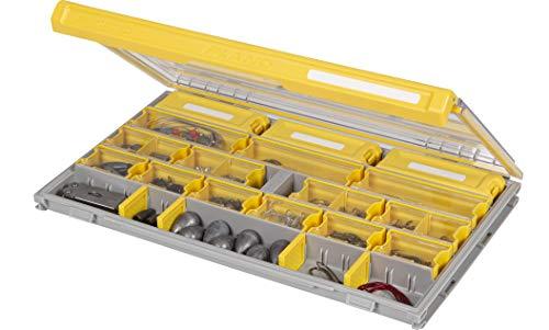Plano Edge Master Terminal Tackle Storage | Premium Tackle Organisation mit Rostschutz, transparent/gelb, Einheitsgröße
