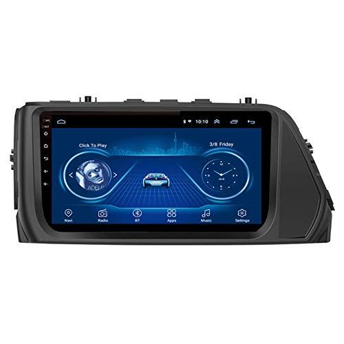 JALAL Navegador GPS para Coche Doble DIN para Hyundai Verna 2018 2.5D Pantalla táctil con teléfono móvil Bluetooth Manos Libres FM Am DSP Subwoofer Soporte Cámara de visión Trasera de Respaldo