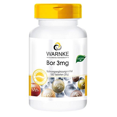 Warnke Gesundheitsprodukte -   Bor 3 mg, Boron 100