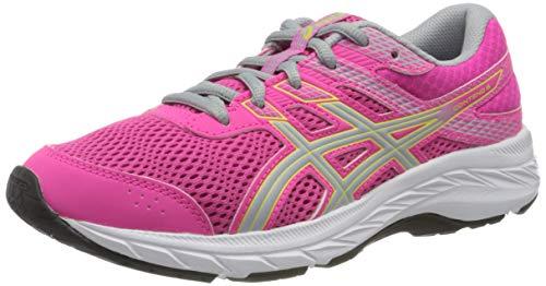 Asics Contend 6, Sneaker Unisex Adulto, Pink GLO/Piedmont Grey, 35 EU