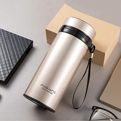 CJH Tasse à thé en plein air pour femme en acier inoxydable de grande capacité Coupe isotherme pour hommes