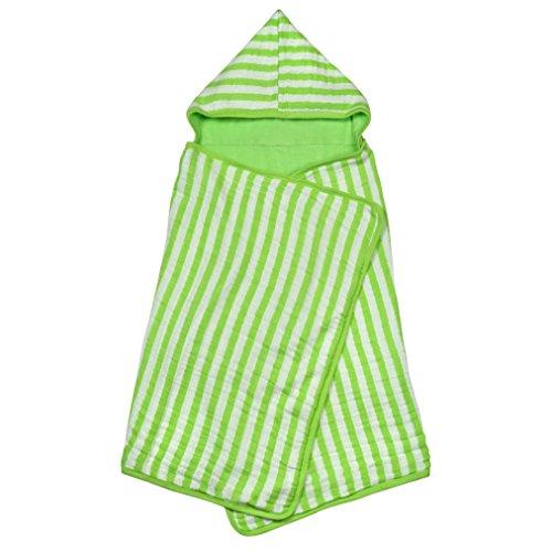 Green Sprouts Mousseline Serviette à capuche Coton Bio (Taille unique, Vert)