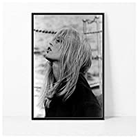 Ipea ブリジットバルドー映画スター女優モデル絵画ポスタープリントキャンバスウォールアート写真ホームルームの装飾(19.69X27.56インチ)50X70Cmフレームなし