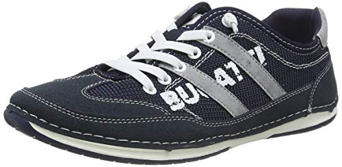 bugatti Herren 321729015400  Niedrig Sneaker,  Blau,  42 EU