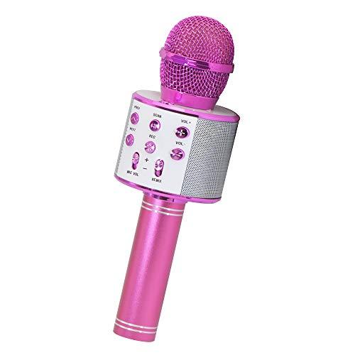 Gifts for Girls Age 4-10, Wireless Bluetooth Karaoke Microphone for Kids Girls Best Popular Birthday Gifts for 5-10 Year Old Girls Toys for 5-10 Year Old Girls Purple KIBM1