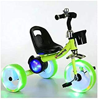 Cool Baby Tricycle With LED Light & Speaker Green