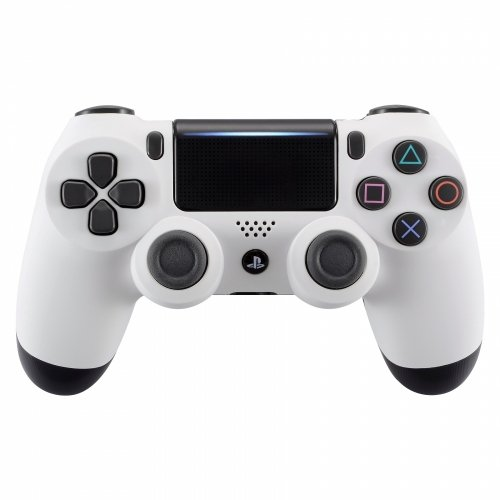 Soft Touch White Playstation 4 PS4 Dual Shock 4 Wireless Custom Controller