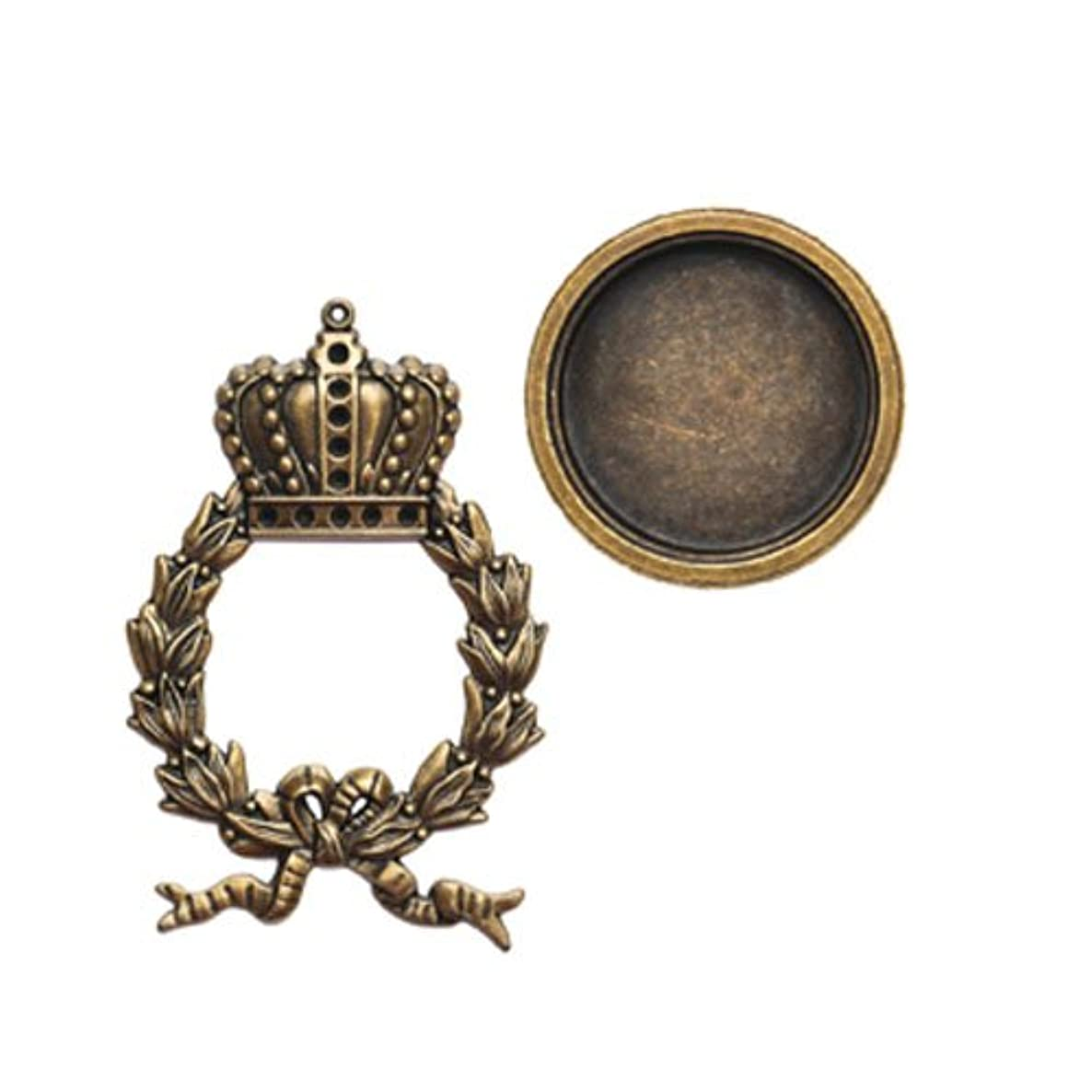 Spellbinders GL1-001 A Gilded Life Regal Wreath - Bronze Pendants