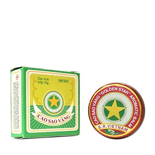 10 Grams (Net Weight), Golden Star Balm, Cao Sao Vang Vietnam, Aromatic Balsam by Golden Star Balm