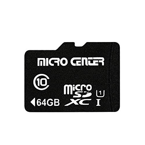Micro Center 64GB Class 10 Micro SDXC Flash Memory Card with Adapter (Single Pack)