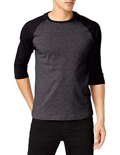 Urban s TB366 Herren 3/4 Sleeve Beung Regular Fit T-Shirt, Cha/Blk, M