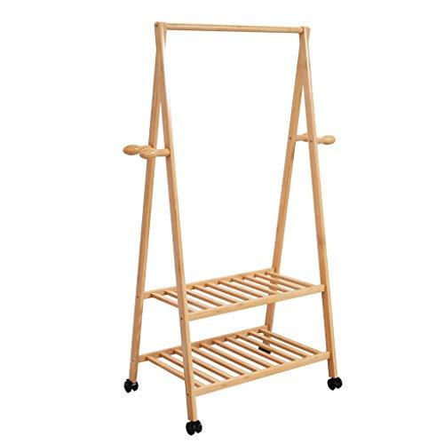 JHYMJ kledingrek, eenvormig, landing, dubbele plank, hanger, startskant, kast, kledingrek