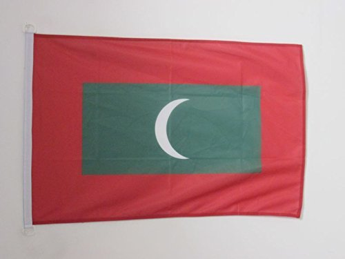 AZ FLAG Flagge MALEDIVEN 90x60cm - Republik MALEDIVEN Fahne 60 x 90 cm Aussenverwendung - flaggen Top Qualität