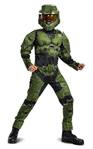 Disguise Disfraz Oficial Halo con Msculos Master Chief Infinito Clsico para Nios - Talla Extra Grande