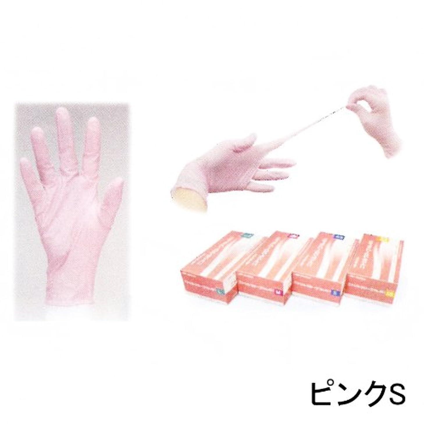 円形フィッティングパトロールニトリルグローブ(左右兼用200枚入) ピンクS