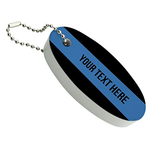 Graphics and More Personalized Custom 1 Line Police Thin Blue Line Floating Keychain Oval Foam Fishing Boat Buoy Key Float
