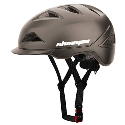Shinmax Casco Bici,Bicicletta Certificato CE MTB Casco da Bicicletta per Uomo Donna,Casco Ciclismo Adulto Luce LED USB Ricaricabile,Caschi Ciclismo per Mountain