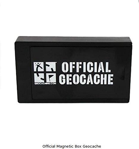 geo-versand Official Geocaching Magnetic Box, Versteck magnetische Dose schwarz mit Groundspeak Logo
