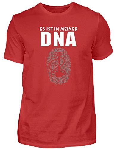 Es Ist In Meiner DNA. - Shisha, Schischa, Rauchen, Wasserpfeife, Pfeifen, Tabakrauchen - Herren Shirt -M-Rot