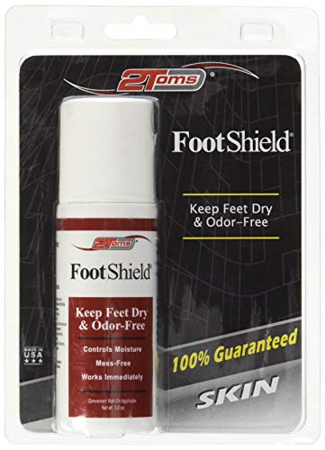 2Toms FootShield (Roll-On) - Keep Feet Dry & Odor-Free (3.0 OZ)