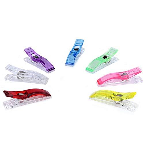 Chengxin grote rand clips bijl clips plastic clip lange staart patchwork clips naaien clips office map klemmen 5/10/15/20/30/50 stuks