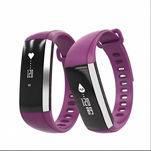 Bracelet Cardio Tracker d'Activité Smart Bracelet,Sport Tracker,Trackers d'activité,Podomètres,Cardiofréquencemètres,Protection écran,Sleep Monitor pour iPhone Samsung Android iOS Téléphone