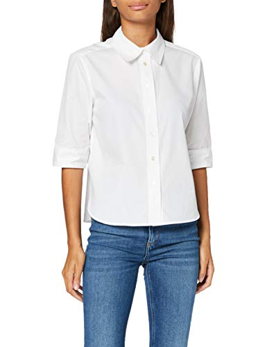 Scotch & Soda Maison Womens Clean classic shirt with 3/4 sleeves Blouse, White-0006, S