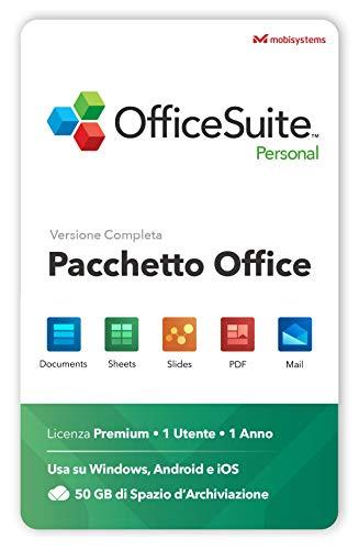 OfficeSuite Personal - Docs, Sheets, Slides, PDF, Mail & Calendar - 1 anno di licenza per 1 PC Windows e 2 Dispositivi Mobili