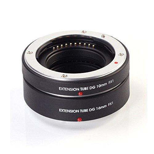 Fotga Electronic Autofocus Macro Extension Tube 10mm+16mm Set for FujiFilm X Mount X-Pro1 X-Pro2 X-Pro3 X-H1 X-A2 X-A3 X-A10 X-A20 X-A5 X-A7 X-T1 X-T2 X-T3 X-T10 X-T20 X-T30 X100F X100T DSLR Camera